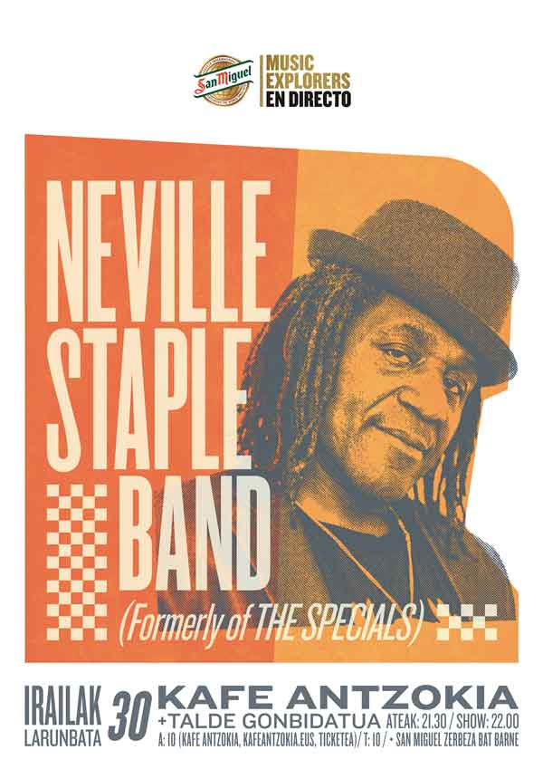 Neville staple band artista invitado stereozona for Kafe antzokia agenda