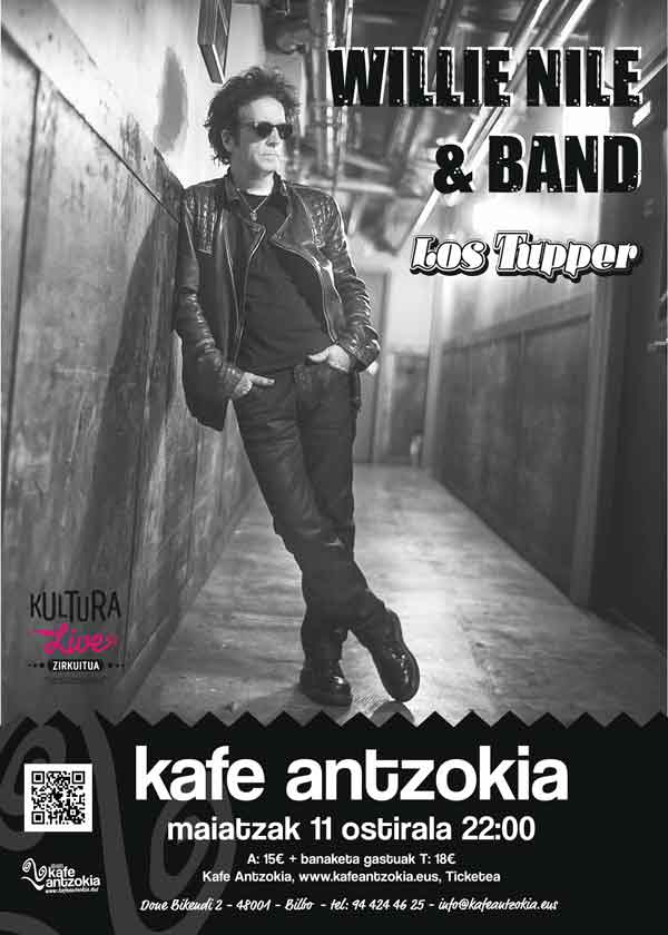 Willie nile band los tupper kafe antzokia for Kafe antzokia agenda