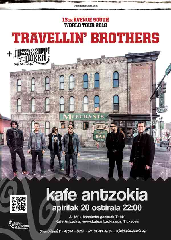 Travellin 39 brothers mississippi queen the wet dogs for Kafe antzokia agenda